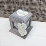 Shabby Chic PERSONALISED Rustic Wood In Memory Of GRANDAD Photo Cube ANY NAMES - 232995529365